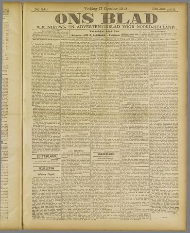 Ons Blad : katholiek nieuwsblad voor N-H 1919-10-17