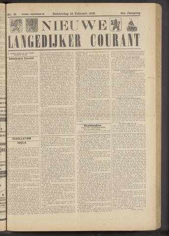 Nieuwe Langedijker Courant 1926-02-18