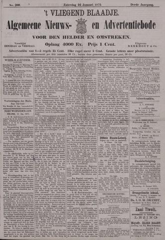 Vliegend blaadje : nieuws- en advertentiebode voor Den Helder 1875-01-16