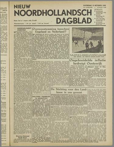 Nieuw Noordhollandsch Dagblad : voor Alkmaar en omgeving 1945-10-13