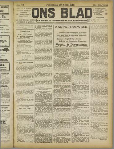 Ons Blad : katholiek nieuwsblad voor N-H 1918-04-18