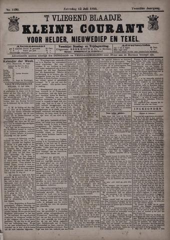 Vliegend blaadje : nieuws- en advertentiebode voor Den Helder 1884-07-12