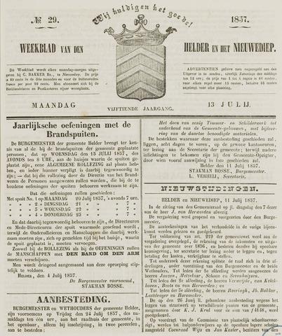 Weekblad van Den Helder en het Nieuwediep 1857-07-13