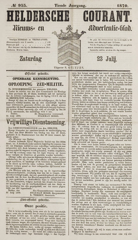Heldersche Courant 1870-07-23