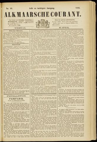 Alkmaarsche Courant 1886-04-16