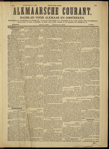 Alkmaarsche Courant 1928-07-02