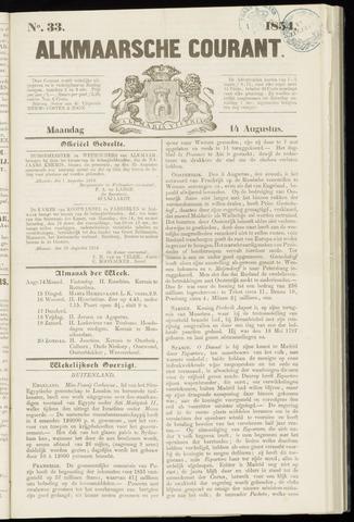 Alkmaarsche Courant 1854-08-14