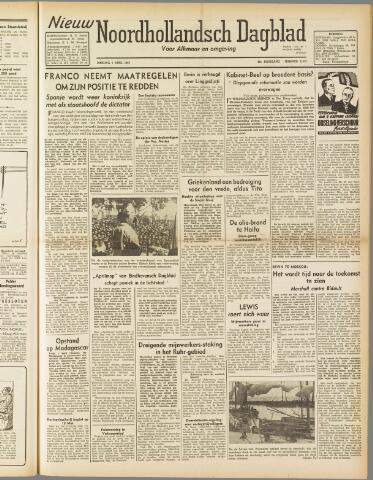 Nieuw Noordhollandsch Dagblad : voor Alkmaar en omgeving 1947-04-01