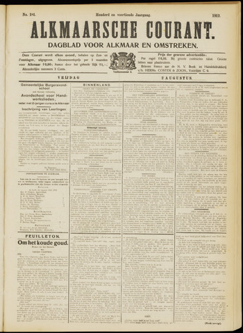 Alkmaarsche Courant 1912-08-02