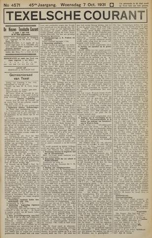 Texelsche Courant 1931-10-07