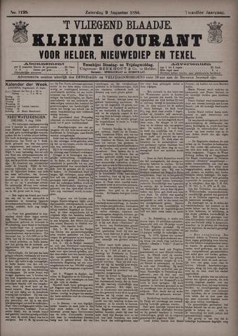 Vliegend blaadje : nieuws- en advertentiebode voor Den Helder 1884-08-09