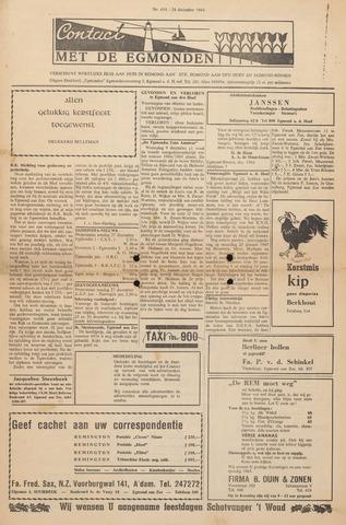 Contact met de Egmonden 1964-12-24
