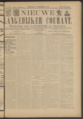 Nieuwe Langedijker Courant 1921-09-27