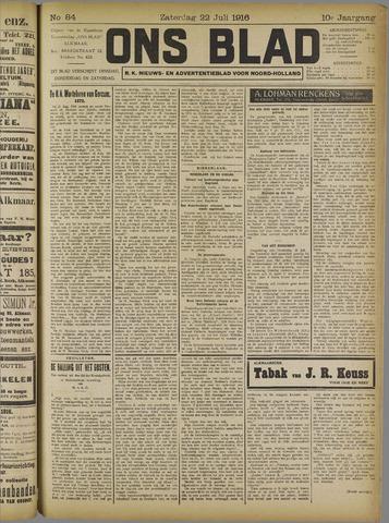Ons Blad : katholiek nieuwsblad voor N-H 1916-07-22