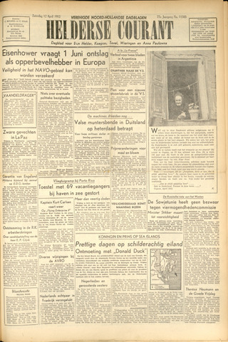 Heldersche Courant 1952-04-12