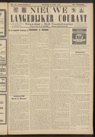 Nieuwe Langedijker Courant 1927-06-21