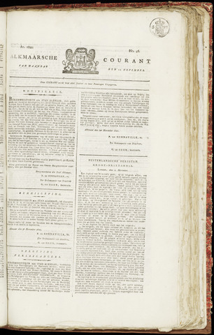 Alkmaarsche Courant 1821-11-12