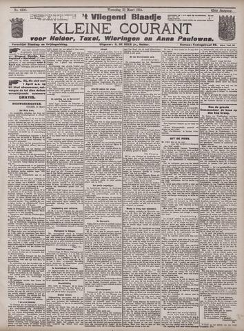 Vliegend blaadje : nieuws- en advertentiebode voor Den Helder 1914-03-25