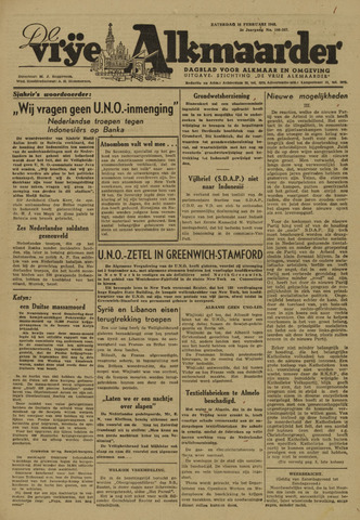 De Vrije Alkmaarder 1946-02-16