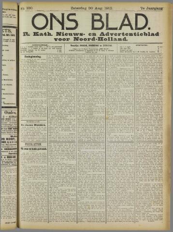 Ons Blad : katholiek nieuwsblad voor N-H 1913-08-30