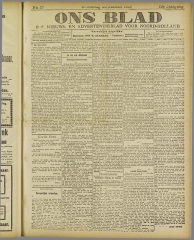 Ons Blad : katholiek nieuwsblad voor N-H 1919-01-22