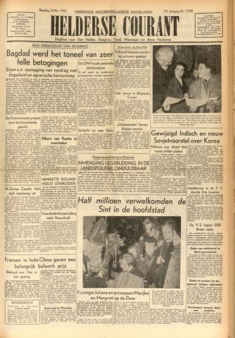 Heldersche Courant 1952-11-24