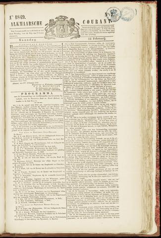Alkmaarsche Courant 1849-02-12