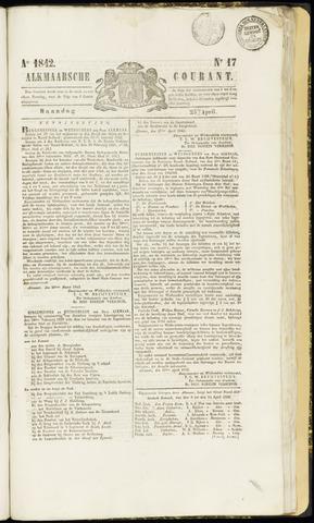 Alkmaarsche Courant 1842-04-25