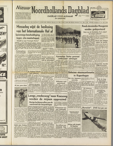 Nieuw Noordhollandsch Dagblad : voor Alkmaar en omgeving 1951-07-07