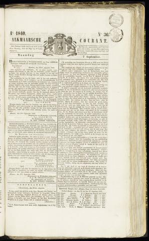 Alkmaarsche Courant 1840-09-07