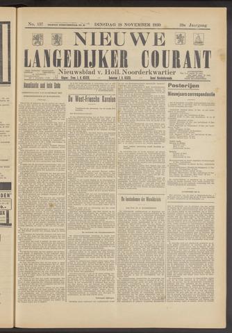 Nieuwe Langedijker Courant 1930-11-18