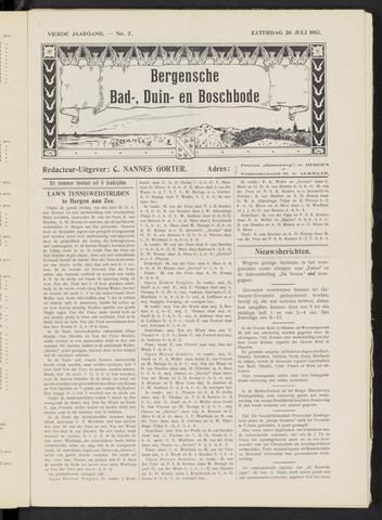 Bergensche bad-, duin- en boschbode 1913-07-26