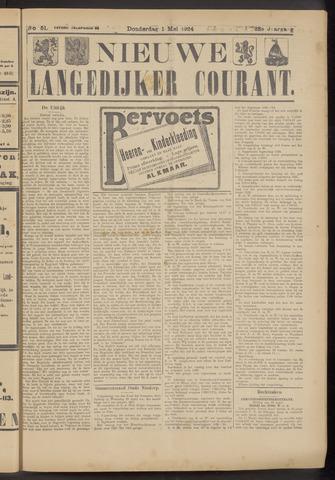 Nieuwe Langedijker Courant 1924-05-01