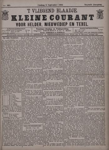 Vliegend blaadje : nieuws- en advertentiebode voor Den Helder 1881-09-06
