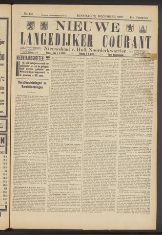 Nieuwe Langedijker Courant 1932-12-27