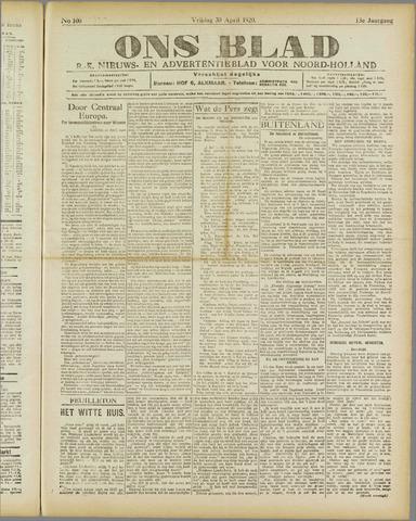 Ons Blad : katholiek nieuwsblad voor N-H 1920-04-30