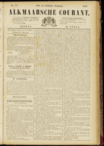 Alkmaarsche Courant 1881-04-10