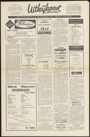 Uitkijkpost : nieuwsblad voor Heiloo e.o. 1968-09-19