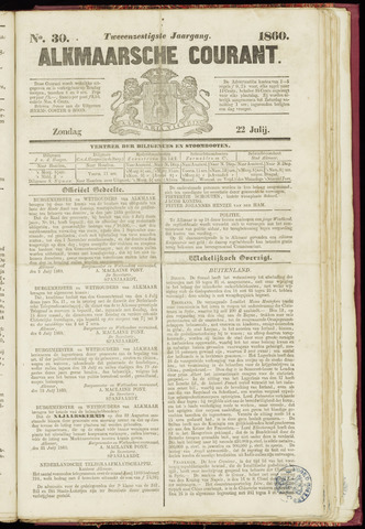 Alkmaarsche Courant 1860-07-22