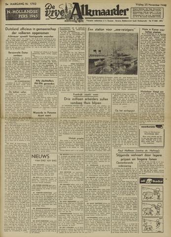 De Vrije Alkmaarder 1949-11-25