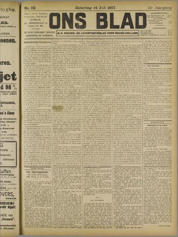 Ons Blad : katholiek nieuwsblad voor N-H 1917-07-14