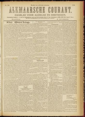 Alkmaarsche Courant 1916-11-27