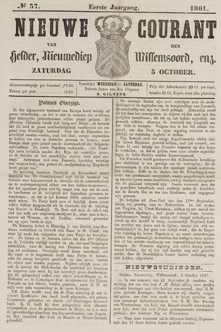 Nieuwe Courant van Den Helder 1861-10-05