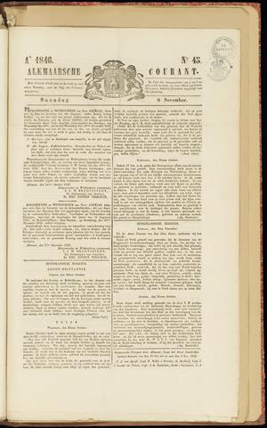 Alkmaarsche Courant 1846-11-09
