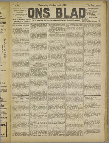 Ons Blad : katholiek nieuwsblad voor N-H 1918-01-12