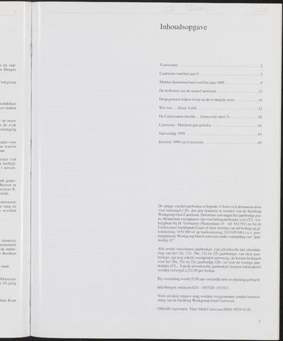 Jaarboek Oud Castricum 2000-11-01