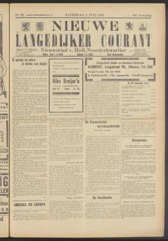 Nieuwe Langedijker Courant 1933-07-08