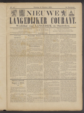 Nieuwe Langedijker Courant 1895-10-13
