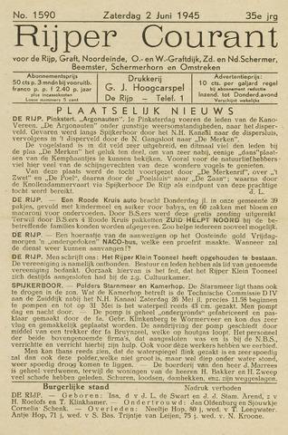 Rijper Courant 1945-06-02