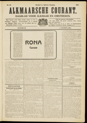 Alkmaarsche Courant 1913-02-04